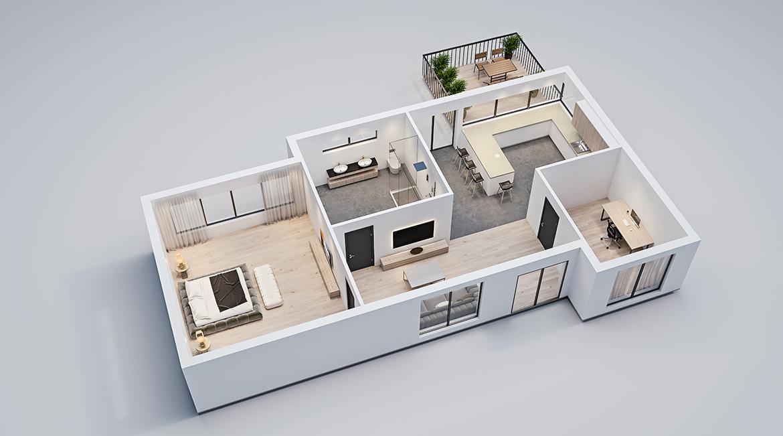 Tvorba 2D, 3D půdorysů nemovitosti
